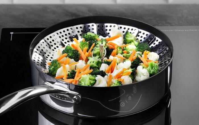Légumes et cuisson à la vapeur